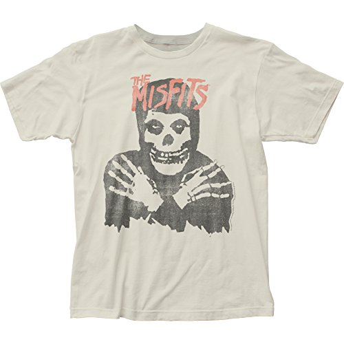 (Impact Originals Impact Men's The Misfits Classic Skull Distressed Fitted Jersey T-shirt XXL, Antique White)