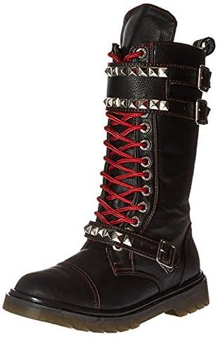 Demonia Women's Riv315/Bpu Boot, Black Vegan Leather, 9 M US - Demonia Gothic Boots
