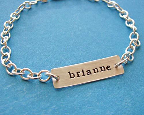 (Custom ID bracelet sterling wrap leather Personalized Bracelet Gift in Silver Coordinate Bracelet, GPS bar Custom Bracelets, Custom Gifts Valentines day Mom David Yurman Hand Stamped, tiffany Bracelet)