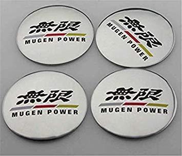 Y&F Boutique shops Calcomanías Adhesivas Adhesivas para tapacubos de aleación de Aluminio Mugen Power de 4