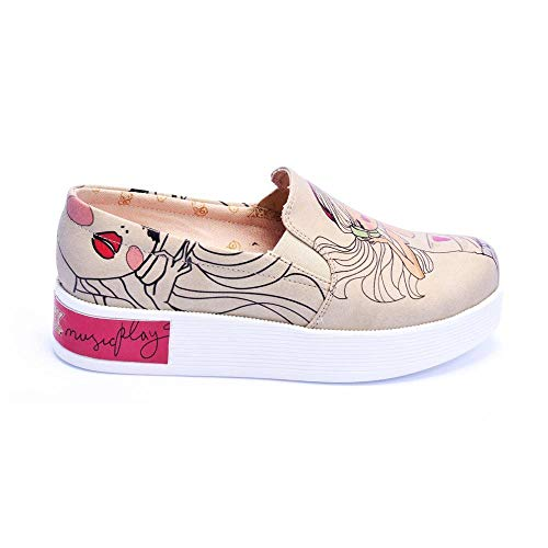 Shoes Vn4219 On Let The Play Music Sneakers Slip g1Y801