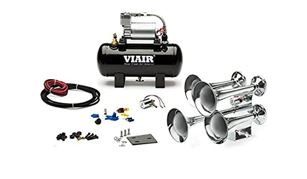 and 1.5 Gallon Air Tank Viking Horns V3305//307 Loud Low Pitch Sound Black 3 Trumpet Train Sound Air Horn System Kit with 150 PSI Compressor