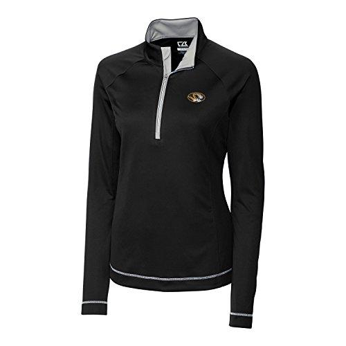 - Cutter & Buck NCAA Missouri Tigers Women's Long Sleeve Evolve Half Zip Jacket, X-Large, Black