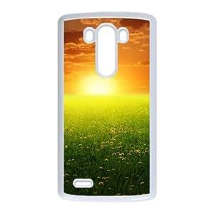 LG G3 Cell Phone Case White Flower J3438109