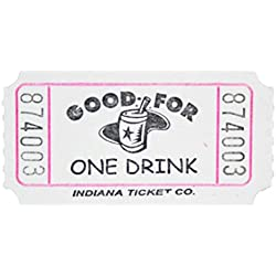 White Drink Ticket Roll