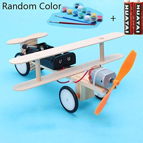 Bifast Kids Children Electric Taxiing Science Experimental Toy DIY Science Model Toy Airplane Construction Kits by Bifast (Image #2)