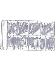 Konstgjorda naglar Artificiell akrylnaglar Clear Tippar Stick On heltäckande med spetsiga änden för DIY Nail Art 500pcs