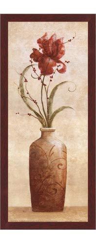 Poster Palooza Framed Tamara's Iris- 8x20 Inches - Art Print (Walnut Brown ()