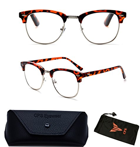 (#RF9053) Premium Quality Clubmaster Retro Reading Glasses (Strength: - Geeky Glasses Women For