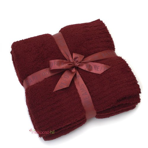 Barefoot Dreams Bamboo Chic Throw Blanket - Bordeaux by Barefoot Dreams