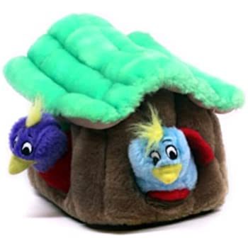 Hide a Bird Fun Hide and Seek Interactive Puzzle Plush Dog Toy by Outward Hound, 4 Piece, Large