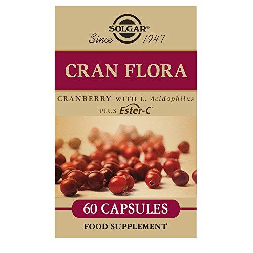 Solgar - CRAN FLORA with Probiotics Plus Ester-C  Vegetable Capsules 60 Count