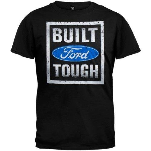 Ford - Mens Built Tough Stamp T-shirt large Black (Ford Items)