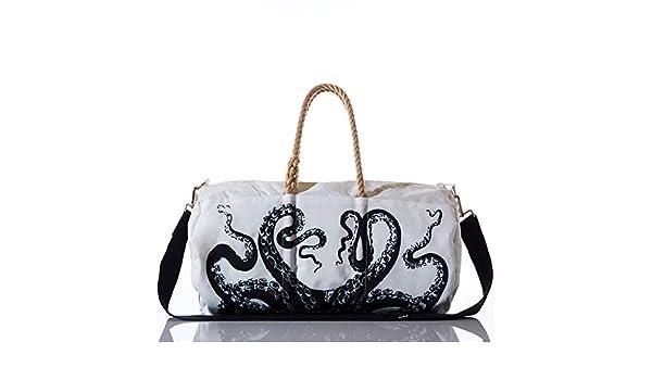 841575e9d83b Amazon.com  Sea Bags Recycled Sail Cloth Octopus Duffel  Shoes