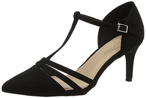 Shebar Bride Black Foot Cheville Wide Black Femme Escarpins New 1 Look XwH7t