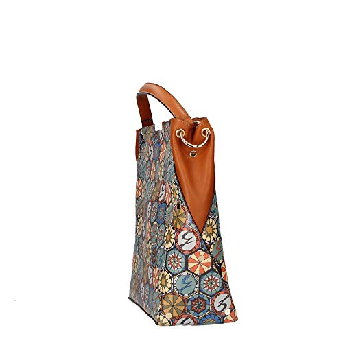 Bolsa Cuero Bencn6433wpw Roma Gattinoni Mujer q461ABnAE
