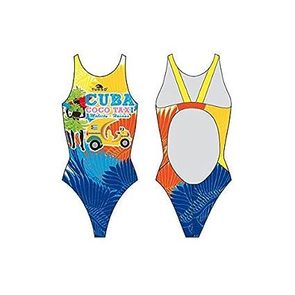 Turbo - Bañador niña CUBA TAXI COCO Tira ancha (01/2Y): Amazon.es: Ropa y accesorios