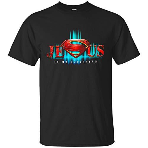 RivollDirect Superman Shirt - Jesus is My Superhero T Shirt for Men, Women and Youth (Unisex T-Shirt;Black;3XL) -