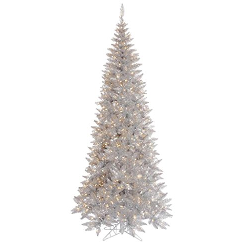 Vickerman Silver Tinsel Fir Christmas - Tinsel Trees Christmas