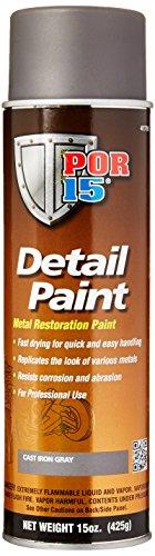 Cast Iron Paint - POR-15 41718 Iron Detail Paint Cast Aerosol - 15 fl. oz.