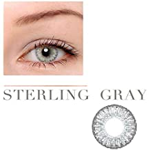 Women Multi-Color Cute Charm and Attractive Fashion Contact Lenses Cosmetic Makeup Eye Shadow Pure Sterling Grey 3 by Dream TM