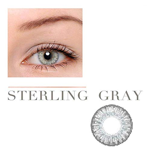 Women Multi-Color Cute Charm and Attractive Fashion Contact Lenses Cosmetic Makeup Eye Shadow Pure Sterling Grey 3 by Dream TM -