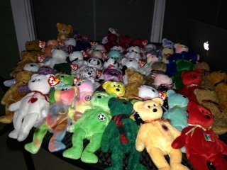 Beanie Babies Princess Diana plus several others