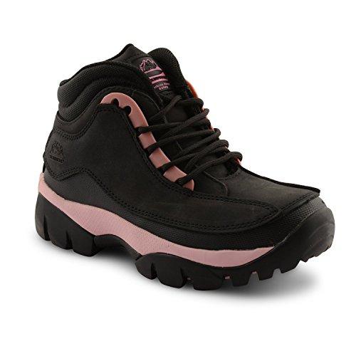 Rsistant Protection Cap Toe Chaussures Femmes Rose Lacets Le Noir Bottes De Pour Groundwork L'huile Drapage Ladies Steel Scurit Contre qZnwE1Ptv