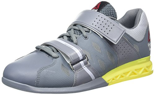 Reebok Crossfit Lifter Plus 2.0 Mens Trainers Sneakers (UK 8.5 US 9.5 EU 42.5, Dust Grey Yellow AR2931)