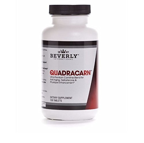 Beverly International Quadracarn 120 Tablets. Exclusive 4X Potency Multi Carnitine Formula. Enhance Testosterone – Cognitive Performance – Fat Loss Muscle Definition – Vascularity – Vitality