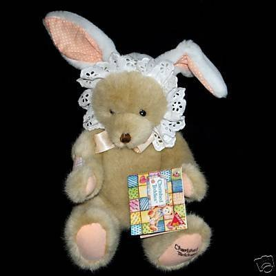 Retired Cherished Teddies Bunny Love Plush Jointed Teddy Bear Toy (Cherished Teddies Girl)