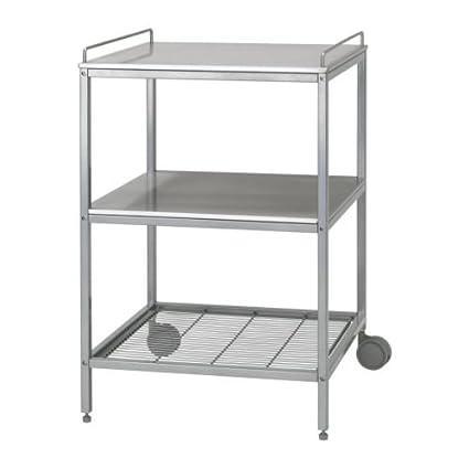 Ikea udden - Carrello da cucina colore argento acciaio inox ...