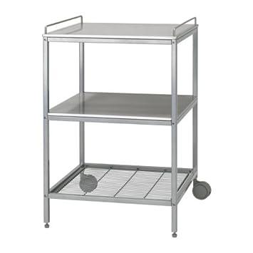IKEA UDDEN - carrito de cocina, de color, de acero inoxidable - 54 x 54 cm: Amazon.es: Hogar