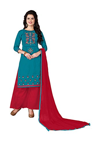 Asmafashion Store Indian Women Designer Partywear Ethnic Traditonal Teal Blue Salwar - Clothing Shipping Free Designer Replica