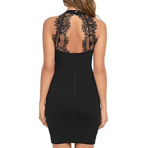 f9bcf611a78e outlet Lyrur Women's Formal Halter Neck Lace Key Hole Bodycon Party Dress