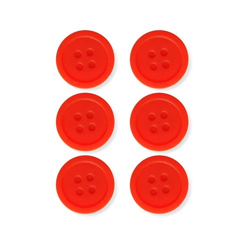 Kikkerland Silicone Tea Buttons Set of 6