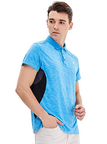 GEEK LIGHTING Mens Golf Polo Shirts Quick-Dry Moisture-Wicking Athletic Short Sleeve