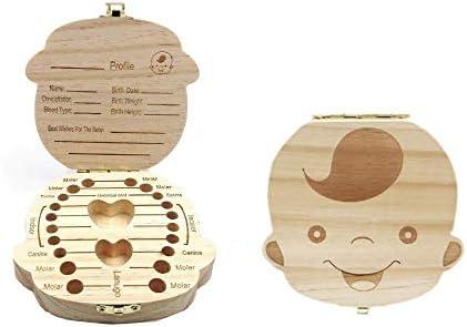 JZK Caja de Dientes de Leche Madera cajita de Almacenamiento de Dientes de Leche para niños bebé Bautizo cumpleaños Regalo, niño: Amazon.es: Juguetes y juegos