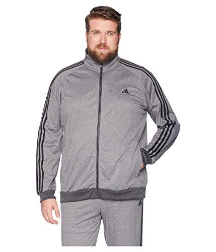 0171a9877 adidas Men's Big & Tall Essentials 3-Stripes Tricot Track Jacket Dark Grey  Heather Solid