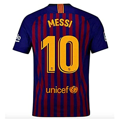 Barcelona Home Messi 10 Mens Socce Jersey 2018-2019