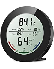 ORIA Digital Hygrometer Thermometer Indoor Thermometer Humidity Monitor Temperature Humidity Gauge Meter with LCD Screen MIN/MAX Records ℃/? Switch for Home Car Office Greenhouse Babyroom