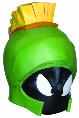 Marvin The Martian Deluxe Overhead Mask, Green, One (Marvin Costume)