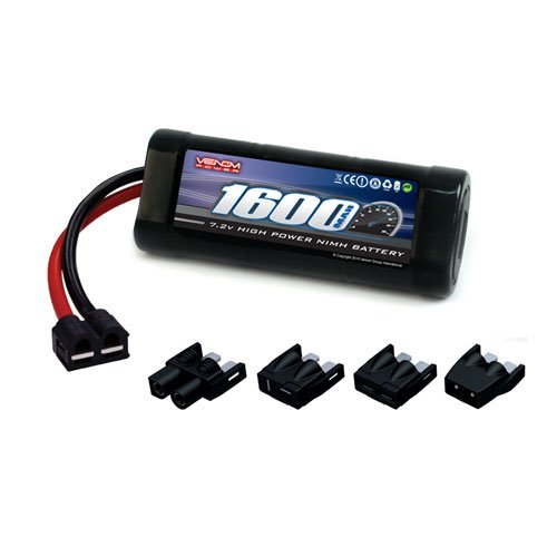 Venom NiMH Battery for Traxxas Summit 1:16 VXL 7.2 1600mAh 6-Cell with Universal Plug