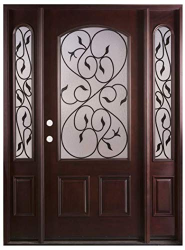 Valencia 12 36x80exterior Front Entry Wood Door With Sidelights