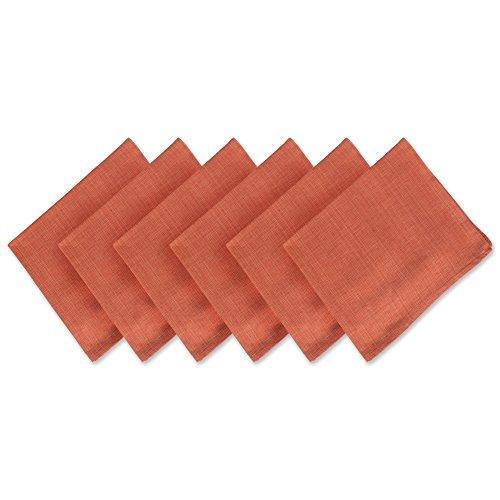 DII Oversized Basic Napkin 100% Cotton, Variegated, Set of 6, Spice