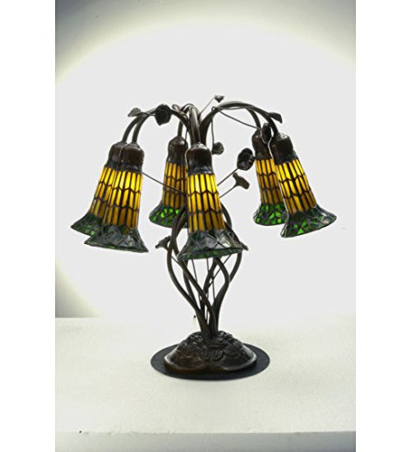 Tiffany Style Pond Lily Stained Glass Light Table Lamp