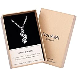 HooAMI Cremation Jewelry Series Dog Cat Paw Pet Ashes Urn Necklace
