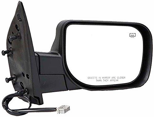 (APDTY 0662861 Side View Power Mirror Assembly Fits Right Passenger-Side 2004-2015 Nissan Armada Titan Infiniti QX56 (Chrome Cap, Power, w/Heat, w/o Memory, w/o Tow))