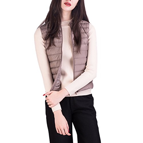 手紙を書くネットショートカットZhhlaixing 美しいジャケット Light Sleeveless Small Vest Down Jacket Short Style Korean Fashion Slim Outwear Outdoor for Ladies