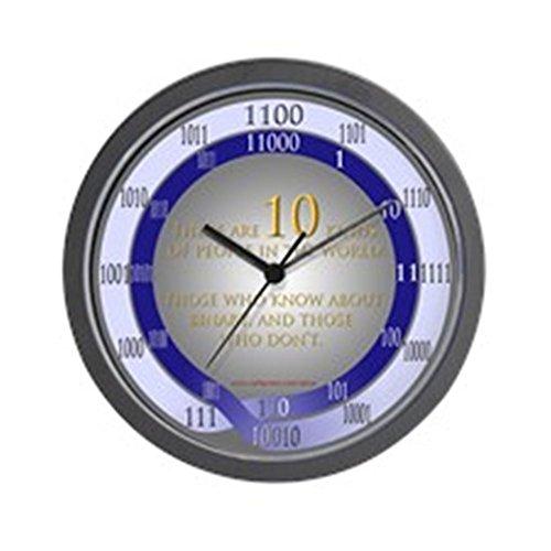 24 Hr Round The Clock (CafePress - 24-hr-binary (w/paradox) Wall Clock - Unique Decorative 10